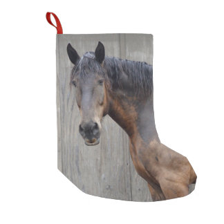 The Dark Horse At The Farm After The Rain Small Christmas Stocking