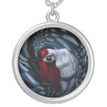 the dark side of my mind hurts round pendant necklace