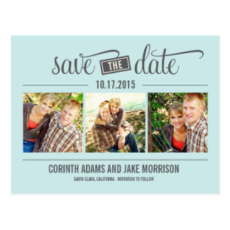 """THE"" Date - Save The Date Card Post Cards"