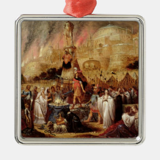 The Daughter of Jephthah, 1643 Silver-Colored Square Decoration