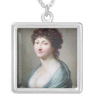 The Daughter: Portrait of Caroline Susanne Graff Silver Plated Necklace