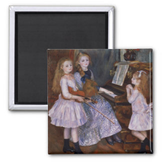 The Daughters of Catulle Mendes at the piano, 1888 Fridge Magnet