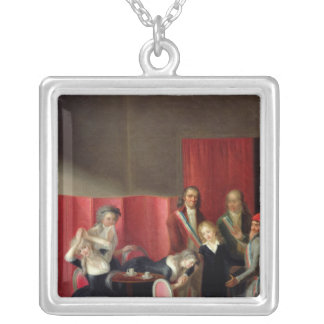 The Dauphin Taken from his Family, 3rd July 1793 Silver Plated Necklace