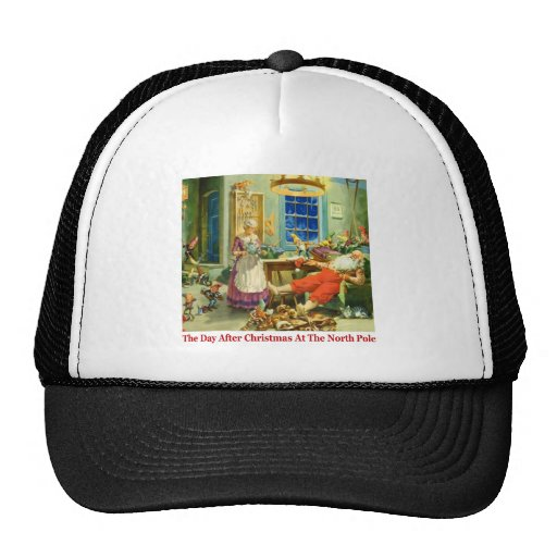 The Day After Christmas at the North Pole. Mesh Hat