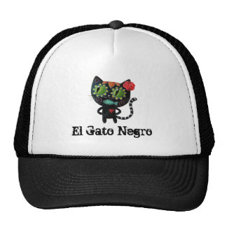 The Day of The Dead Black Cat Cap