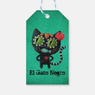 The Day of The Dead Black Cat Gift Tags