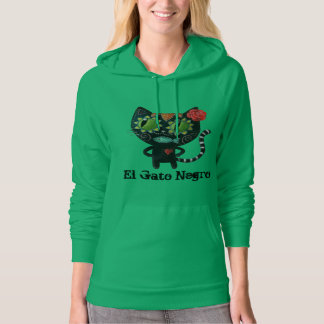 The Day of The Dead Black Cat Hoodie
