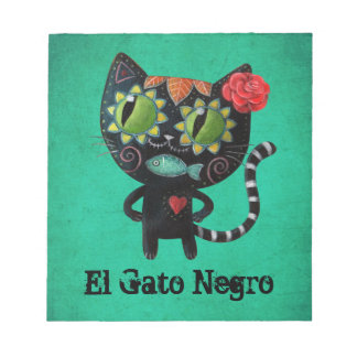 The Day of The Dead Black Cat Notepad