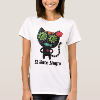 The Day of The Dead Black Cat T-Shirt