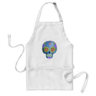 The Day of The Dead Blue Sugar Skull Standard Apron