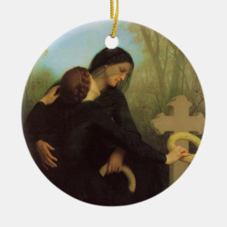 The Day of the Dead by William Adolphe Bouguereau Christmas Ornament
