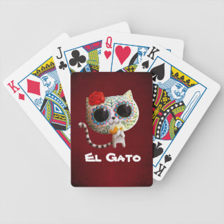 The Day of The Dead Cute Cat Bicycle Playing Cards