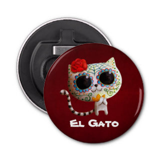 The Day of The Dead Cute Cat Bottle Opener