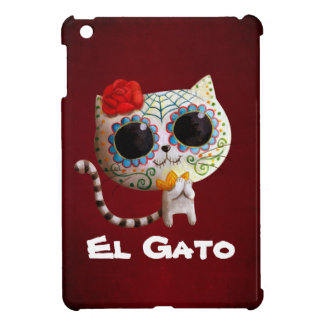 The Day of The Dead Cute Cat iPad Mini Covers