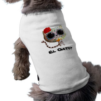 The Day of The Dead Cute Cat Sleeveless Dog Shirt