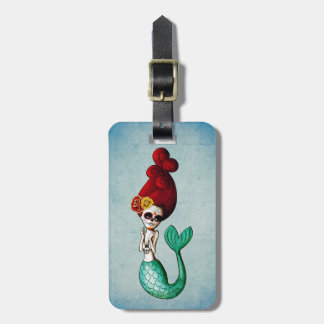 The Day of The Dead Mermaid Beauty Luggage Tag