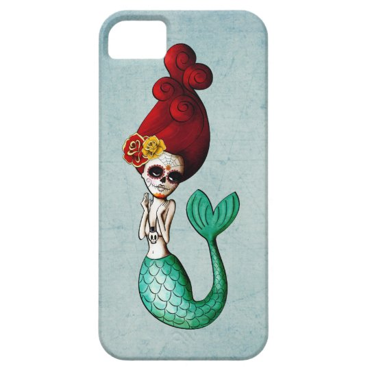 The Day of The Dead Mermaid Catrina iPhone