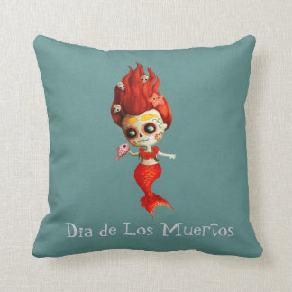 The Day of The Dead Mermaid Cushion