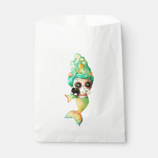 The Day of The Dead Mermaid Girl Favour Bags