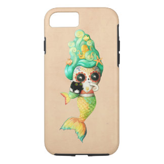 The Day of The Dead Mermaid Girl iPhone 7 Case