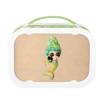 The Day of The Dead Mermaid Girl Lunch Box