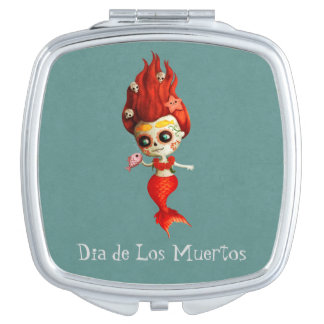 The Day of The Dead Mermaid Makeup Mirrors