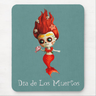 The Day of The Dead Mermaid Mouse Mat
