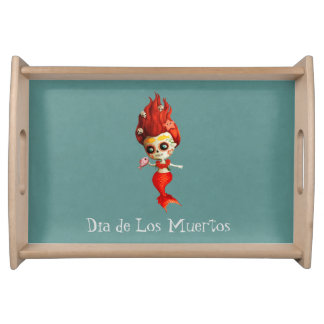 The Day of The Dead Mermaid Serving Tray