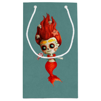 The Day of The Dead Mermaid Small Gift Bag