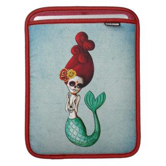 The Day of The Dead Old School Cute Mermaid iPad Sleeve