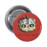 The Day of The Dead Pumpkin Sugar Skull 6 Cm Round Badge