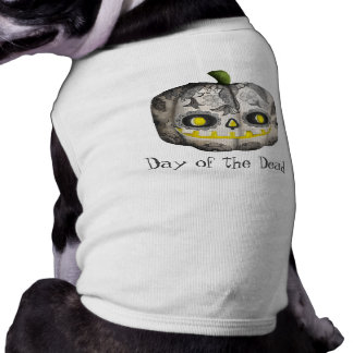 The Day of The Dead Pumpkin Sugar Skull Doggie Tee