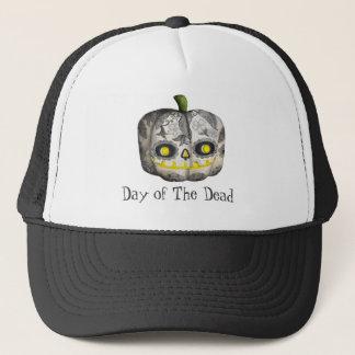 The Day of The Dead Pumpkin Sugar Skull Trucker Hat