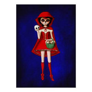 The Day of The Dead Red Riding Hood Poster