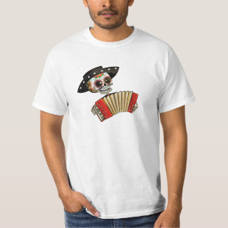 The Day of The Dead Skeleton El Mariachi Tee Shirts