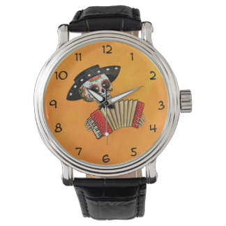 The Day of The Dead Skeleton El Mariachi Watch