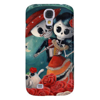 The Day of The Dead Skeleton Lovers Galaxy S4 Case