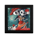 The Day of The Dead Skeleton Lovers Small Square Gift Box