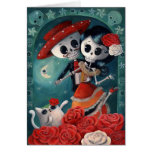 The Day of The Dead Skeleton Lovers Greeting Card