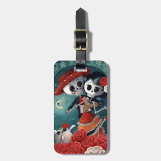 The Day of The Dead Skeleton Lovers Luggage Tag