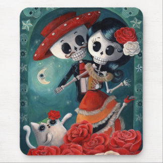 The Day of The Dead Skeleton Lovers Mouse Pad