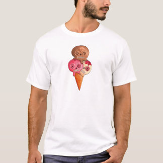 The Day of The Dead Sugar Skulls Ice Cream T-Shirt