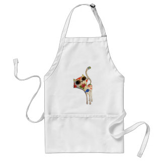 The Day of The Dead White Cute Cat Standard Apron