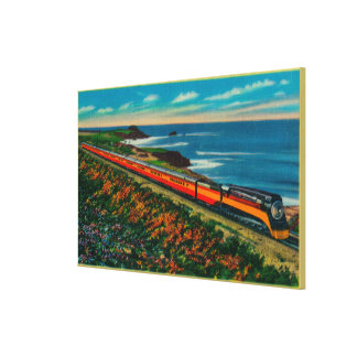 The Daylight Limited Train on California Canvas Prints