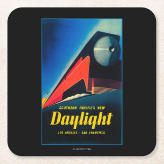 The Daylight Train Promotional Poster Square Paper Coaster