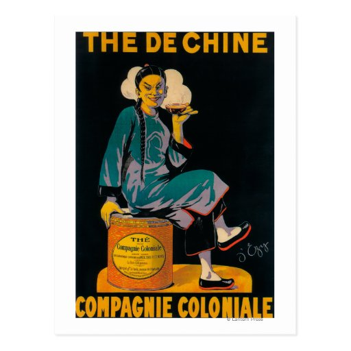 The De Chine, Colonial Company Promotional Poste Post Cards