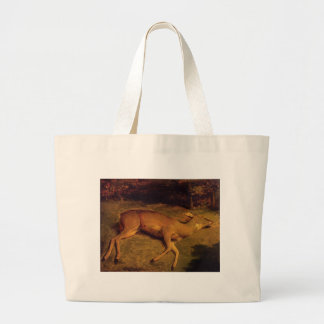 The Dead Doe by Gustave Courbet Jumbo Tote Bag