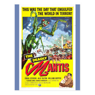 THE DEADLY MANTIS movie poster Postcard