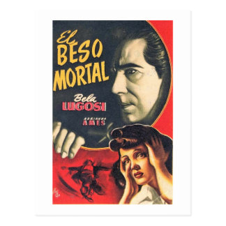 The Death Kiss, Movie Film, Bela Lugosi, Vintage Postcard