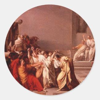 The Death of Caesar Round Sticker